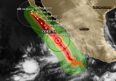Alerte rouge Cyclone tropical au Mexique ODILE-14