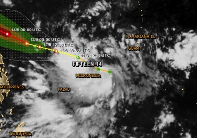 Alerte rouge Cyclone tropical aux Philippines FIFTEEN-14